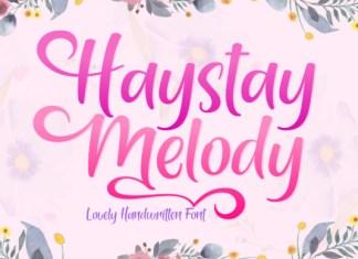 Haystay Melody Font