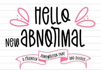 Hello New Abnormal Font