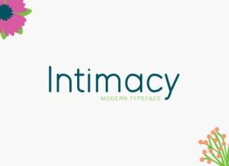 Intimacy Font