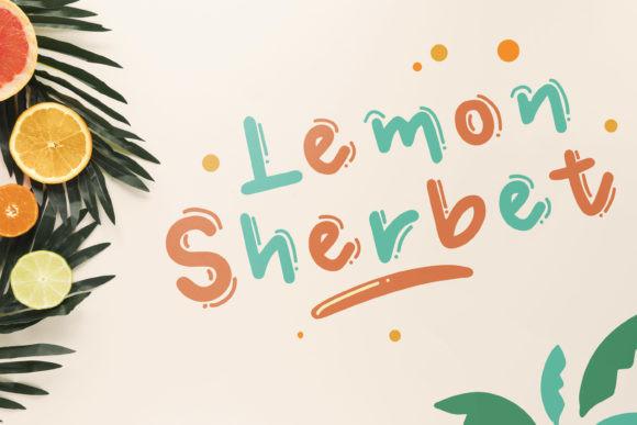 Lemon Sherbet  Font