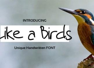 Like a Birds Font