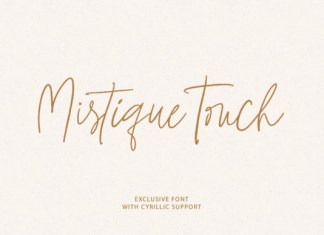 Mistique Touch Font