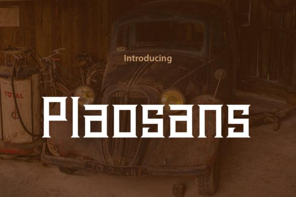 Plaosans Font