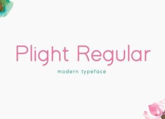 Plight Regular Font