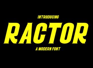 Ractor Font
