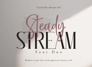 Steady Stream Font
