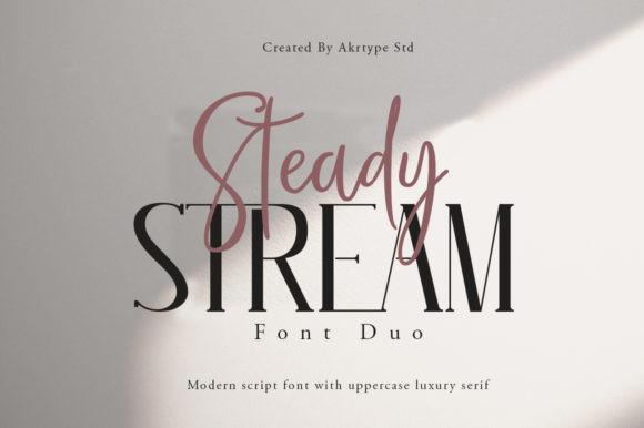Steady Stream Font