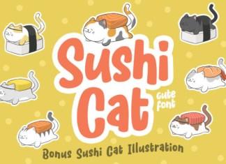 Sushi Cat  Font