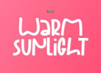 Warm Sunlight  Font