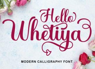 Hello Whetiya Font