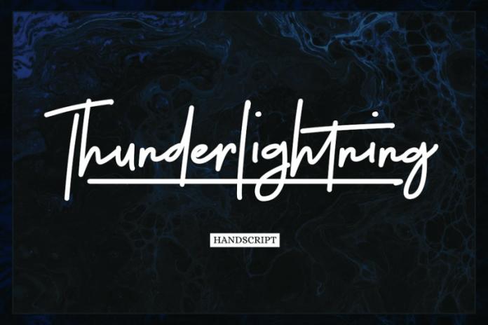 Thunderlightning Font