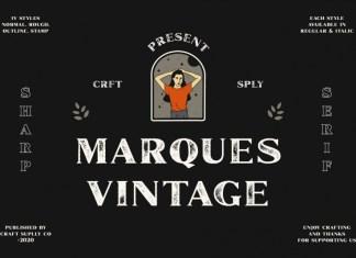 Marques Vintage Font