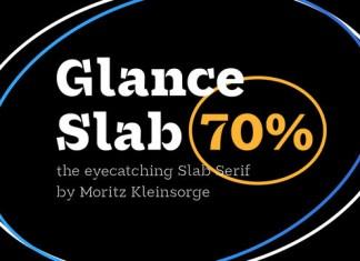 Glance Slab Font