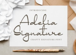 Adelia Signature Font