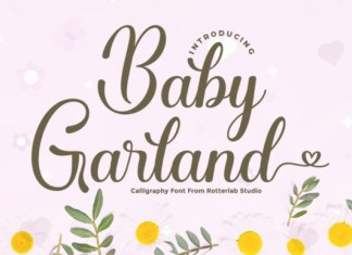 Baby Garland Font