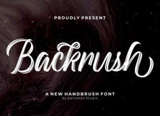 Backrush Font