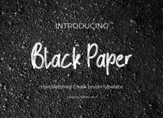 Black Paper Font