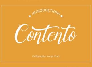 Contento Font