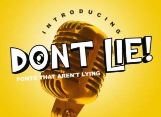 Dont Lie! Font