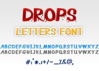 Drops Letters Font
