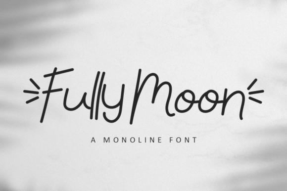 Fully Moon Font