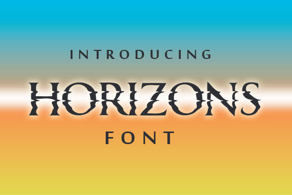 Horizons Font