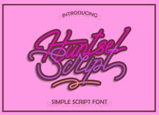 Huntsel Script Font