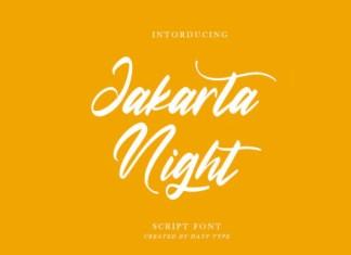 Jakarta Night Font