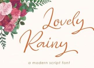 Lovely Rainy Font