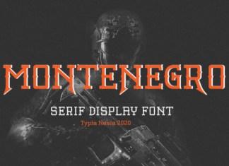 Montenegro Font