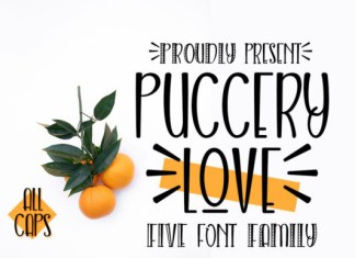 Puccery love Font