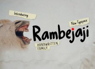 Rambejaji Font