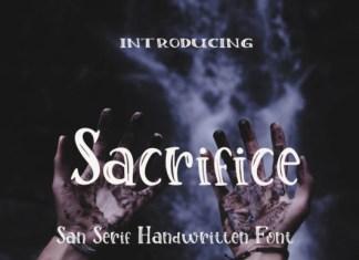 Sacrifice Font