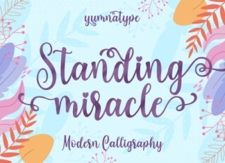 Standing Miracle Font