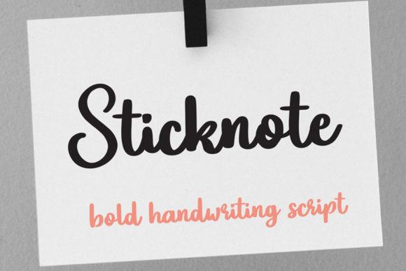 Sticknote Font