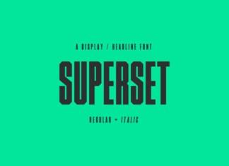Superset Font
