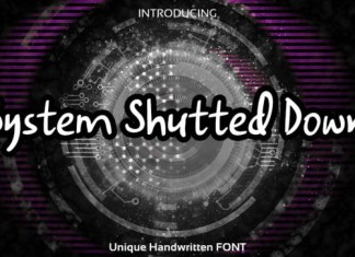 System Shutted Down Font