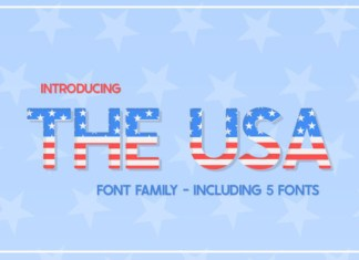 The USA Font