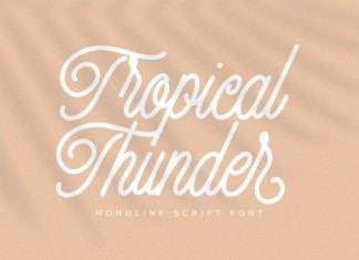 Tropical Thunder Font