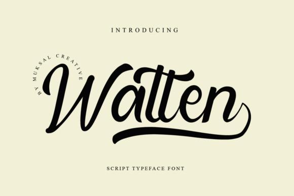 Watten Font