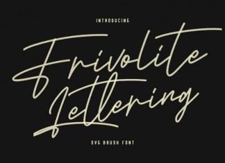 Frivolite Lettering Font