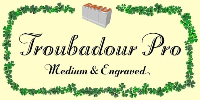 Troubadour Pro Font