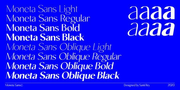 Moneta Sans Font