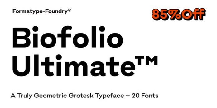Biofolio Ultimate Font
