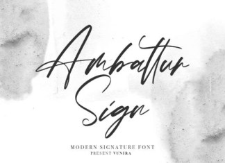 Ambattur Sign Font