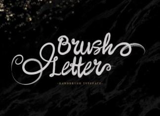 Brush Letter Font