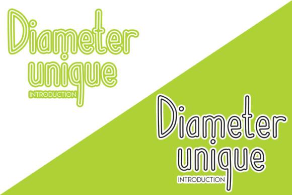 Diameter Unique Font