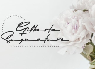 Gilberta Signature Font