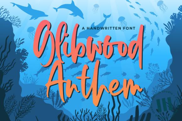 Glibwood Anthem Font