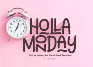 Holla Monday Font